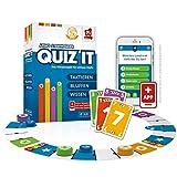 Rudy Games Quiz it, Interaktives Quiz-Spiel mit App, Fragen aus unterschiedlichsten Themenbereichen für die ganze Familie, Ab 12 Jahren, Für 2-4 Spieler