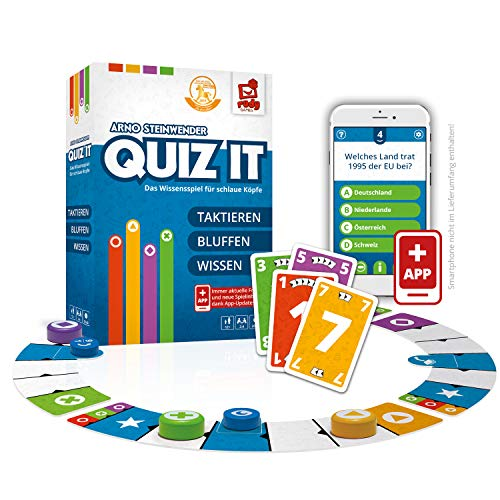 Rudy Games 10V61114114V10 Quiz it – Interaktives Quiz Spiel mit App – Fragen aus unterschiedlichsten Themenbereichen für die ganze Familie – Ab 12 Jahren – Für 2-4 Spieler
