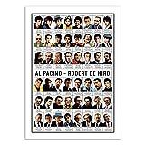 Wall Editions Art-Poster - Al Pacino and Robert de NIRO -