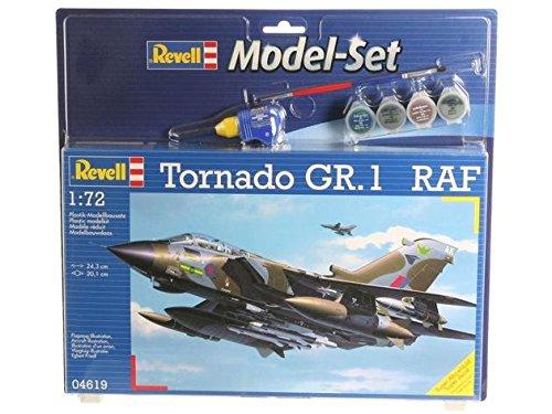 Revell Modellbausatz Flugzeug 1:72 - Tornado GR.1 RAF im Maßstab 1:72, Level 4, originalgetreue Nachbildung mit vielen Details, , Model Set mit Basiszubehör, 64619