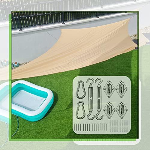 GAOYUY Toldo Vela De Sombra, con Kit De Fijación Toldo Impermeable De La Vela del Toldo del Refugio De La Protección Solar 98% De Bloqueo UV para Fiesta En El Patio En El Jardín Al Aire Libre
