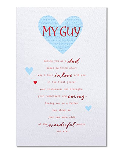 American Greetings Romantic My Guy Father's Day Card with Foil