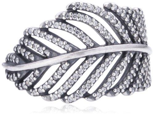 Pandora Damenring W56 Silber Feder
