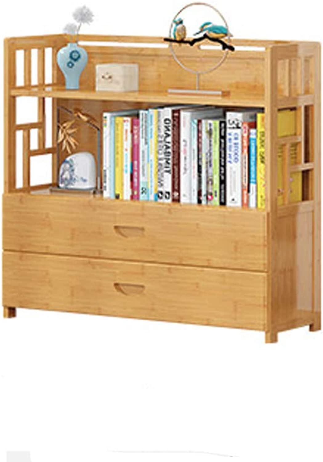 Solid Wood Open Shelf Bookshelf,Display Rack Multifunctional Better Homes and Gardens Furniture Organizer Storage Bookcases-A 50x25x83cm(20x10x33inch)