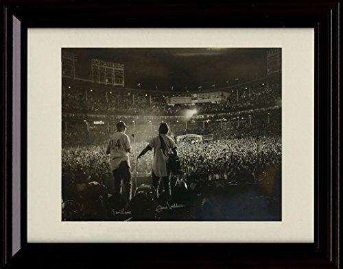 Framed Eddie Vedder & Ernie Banks Autograph Replica Print - Pearl Jam - All The Way - Chicago