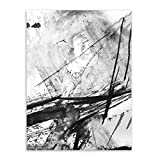 Ywsen Canvas Art Modern Abstract Chinese Ink Splash Poster Print Wall Picture Painting Vintage Retro Living Room Decor(no Frame) 40x60cm