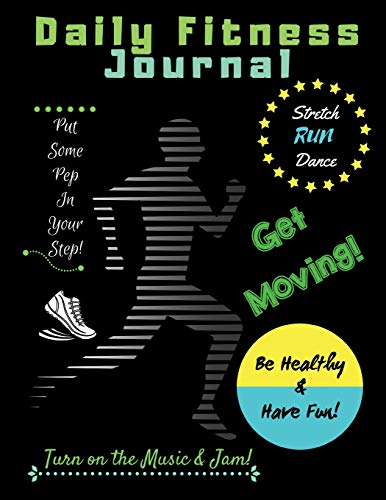 Daily Fitness Journal (Black Cover Kids Fun Exercise Guide Log Book for children)