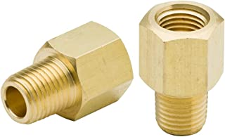"""KOOTANS 2Pcs 3/8"""" NPT Female to 1/4"""" Male Thread Water Gas Quick Connector Brass Pipe Fitting Adapter Hose Fitting"""