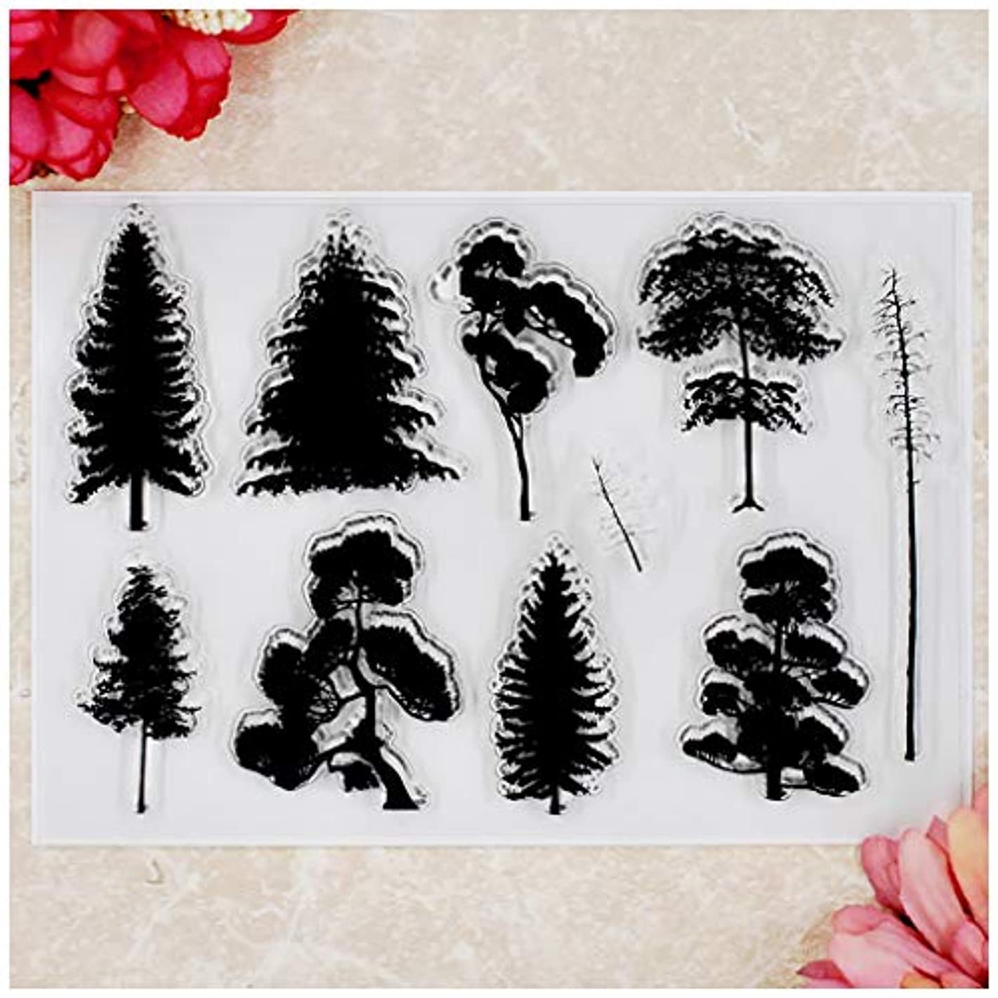 Kwan Crafts Tree Clear Stamps for Card Making Decoration and DIY Scrapbooking