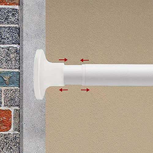 VICKERT Spring Tension Rod,126-165 Inchs Room Divider Tension Rod, Shower Curtain Rods,Tension Windows Curtain Rods,Never Rust and Non-Fall Down Spring Tension Rod,Adjustable Tension Curtain Rod