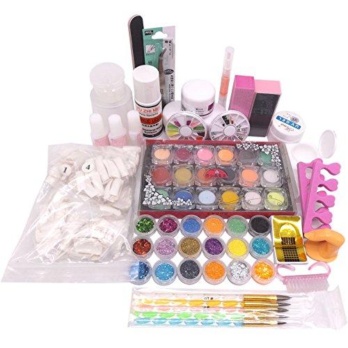 Warm Meisje 36 Acryl Poeder Vloeibare UV Primer Nagel Art Tip Set Stofstickers Borstel Kits