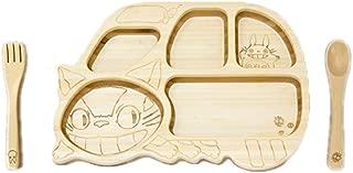 FUNFAM Studio Ghibli My Neighbor Totoro Japanese Bamboo Made Cat Bus Plate Set FGBL-01-105