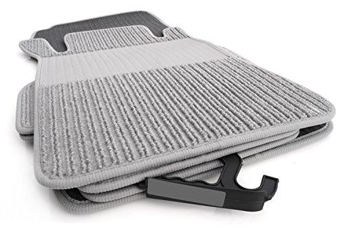 kh Teile Fußmatten/Rips Automatten Original Qualität, Ripsmatten 4-teilig, grau mit Absatzschoner