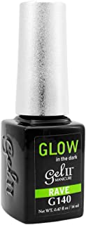 GEL II La Palm Rave Nail Polish Lacquer UV Glow In The Dark Florescent Green