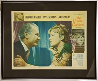 Custom Black Metal Frame - Hayley Mills In Person Signed - Original 11x14 Lobby Card - The Chalk Garden - Signed in Black - Measures 14x17 Inches - Rare - Collectible