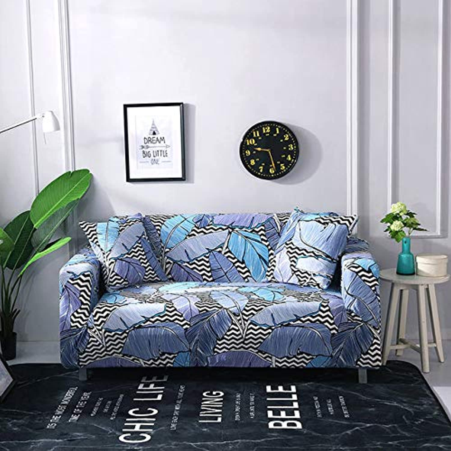 Floral Printing Stretch Slipcovers Elastic Stretch Sofa Cover for Living Room Couch Cover L Shape Armchair Cover   colour8, 2-Seater 145-185cm