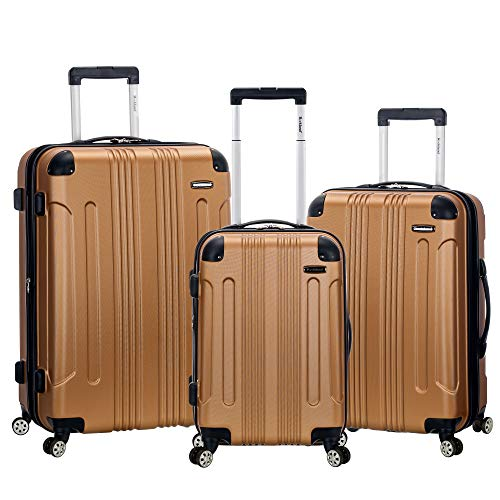 Rockland London Hardside Spinner Wheel Luggage, Gold,...