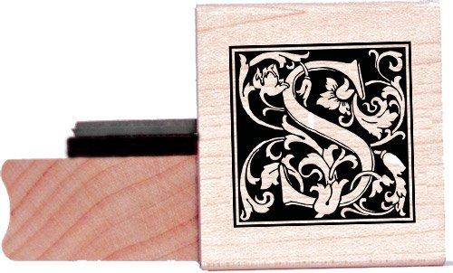 Tampon en caoutchouc alphabet - Lettre S à la William Morris