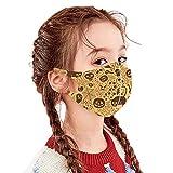 GJKK 1pcs Halloween Kinder Mund Und Nasenschutz mit Motiv lustig Mund und nasenschutz Wiederverwendbar waschbar Multifunktionstuch Mund Bandana y
