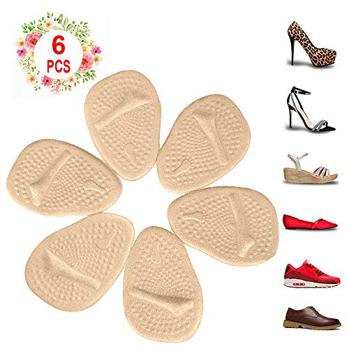 Metatarsal Pads for Womens Heel Cushion Inserts  All Day Pain Relief and Ball of Foot Cushions, 3 Pairs Shoe Inserts Womens Also Suitable for Mens