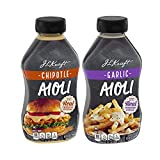 J.L Kraft Chipotle & Garlic Aioli w/ Real Chipotle Peppers/Roasted Garlic Spread for Dipping, Sandwiches, Burgers Combo Pack - 2 Pk (24 oz)