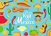 HD Vivaメキシコの背景Moses乱交パーティー写真10x7FTサボテンギターウエスタンカウボーイ写真背景パーティー壁紙部屋壁画小道具BJQQPH141