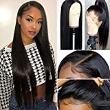 Ms Sunlight Pre Plucked 360 Lace Frontal Wig Brazilian Straight Human Hair Lace Wigs with Baby Hair for Women Glueless Wigs 10 inch Natural Color 150% Density