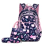 3PCS School Backpack for Girls, Kids Bookbags Set Primary Girls Students