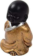 Baoblaze Resin Buddha Statue Little Monk Figurine Ornament Decorations for Meditation - Style02, as described