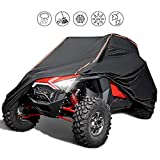 [Upgrade]UTV Cover Waterproof Heavy Duty Cover with Reflective Strip for Polaris RZR 1000 900 800 700 570 XP Turbo S Protect Your SxS Vehicle from Snow, Rain, Dirt, Dust and Sun UV Rays