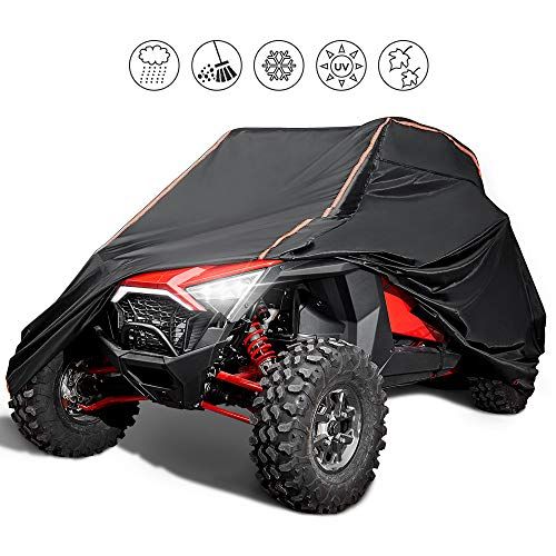 Waterproof 420D RZR Cover, KEMIMOTO Heavy Duty Windproof and UV Ray Resistance UTV Cover with Reflective Strip Compatible with RZR 1000 900 800 700 570 XP Turbo S