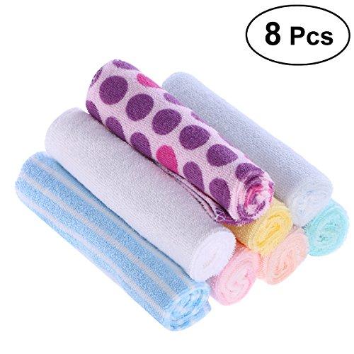 BESTOMZ 8 Stück Baby Waschlappen Badetuch aus Baumwolle
