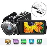 Caméscope Aabeloy Youtube Vlogging Camera HD 1080p 24.0MP Ecran LCD 3.0 Pouces...