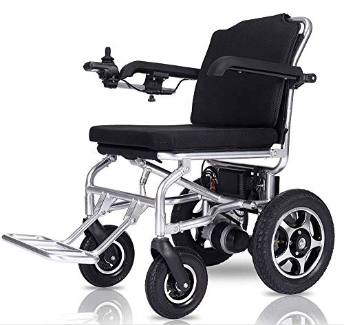 WLG Electric Wheelchair Aluminum Alloy Lithium Battery Foldable Lightweight Elderly Disabled AUT