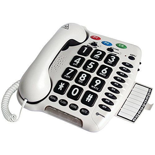 Geemarc Amplified Big Button Telephone with Adjustable Tone Control - AmpliCL100