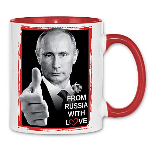 Royal Shirt rs48 Tasse From Russia with love   Russland Präsident Moskau, Farbe :White - Red