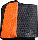 Forearm Forklift FFBMB Full Size Heavy Weight Quilted Moving Blanket (84 lb/dz), 72' x 80', Blaze...