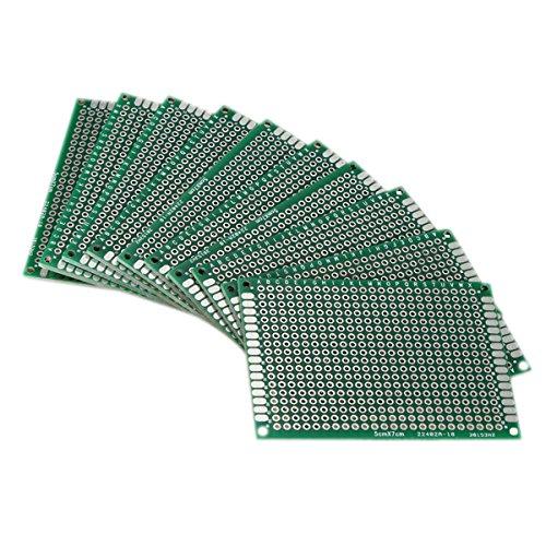 SODIALR 10pcs Tablero lateral doble 5x7cm PCB Gaza