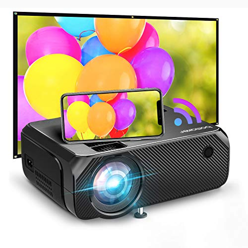 Bomaker 2021 Upgraded Native HD WiFi Mini Projector 200 ANSI Lumen TV Projector Native 1280x720P Wireless Portable Outdoor Movie amp Gaming WiFi Projector for TV Stick Laptop PS4 iPhone Android