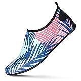 Water Sports Shoes for Men & Women, Barefoot, Quick-Dry Aqua Socksfor Beach, Swim, Surf, Yoga, Exercise, Outdoor, Tropic,13-14 Women/11.5-12.5 Men
