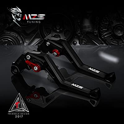 MZS CNC Brake Clutch Levers Set Compatible Yamaha YZF R1 2004-2008,YZF R6 2005-2016,R6S CANADA VERSION 2006,R6S EUROPE VERSION 2006-2007 Red