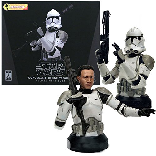 Star Wars - Coruscant Clone Trooper Deluxe mini Bust (Gray) image
