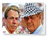 Mark Spears Signed Nick Saban and Bear Bryant 24x36 Gallery Wrapped Canvas Print University of Alabama Football College Football