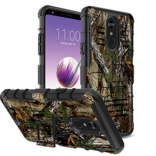 UniSpg for LG Stylo 4 Phone Case,LG Q Stylus Plus Case [Holster Clip 360°Protection] Military Grade Heavy Duty Shockproof Armor [Kickstand] Hybrid Dual Layer Protective Cover for LG Stylo 4 -Camo Tree