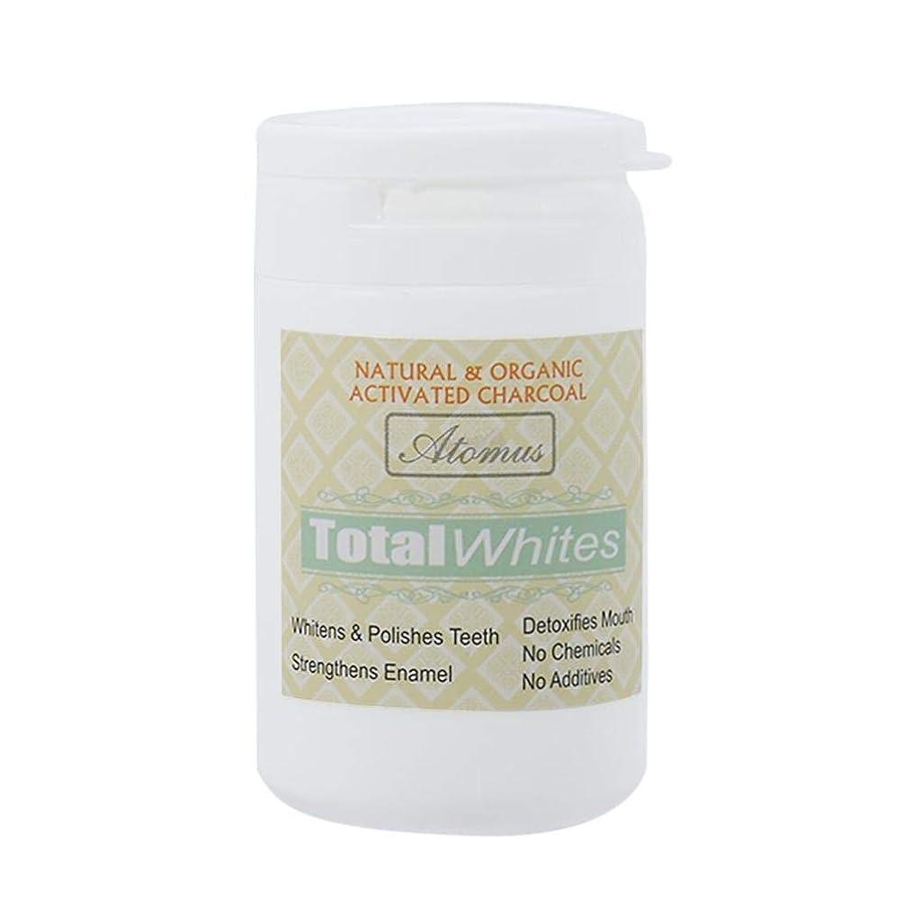 然とした眩惑するプレビュー歯のホワイトニングパウダー、活性炭の歯のホワイトナーパウダー - 有機安全で効果的なホワイトナーの解決策 - ホワイトニングの歯とフレッシュな息