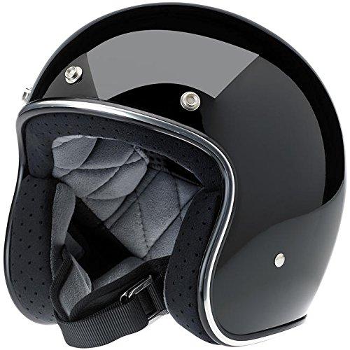 Biltwell Bonanza DOT Certified Open-Face-Helmet-Style Helmet (Gloss Black, X-Small)