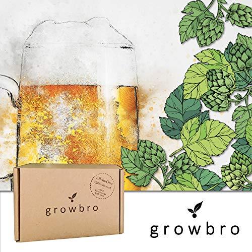 growbro Hopfen Anzuchtset, Der Weg zu deinem eigenen Bier, Geschenk für Männer, Freunde und Papa, Geburtstagsgeschenk, Gastgeschenk, Geschenke zum Grillen, Männer Gadget