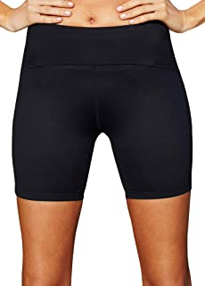 LaSculpte Womens Active Yoga Shorts Waist Slimming Tummy Control Compression Workout Running Athletic Non See-Through Bike...