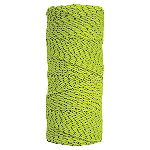 Kraft Tool BC354 Bonded Braided Nylon Line (Green & Black) - 500' Tube, multi, one size