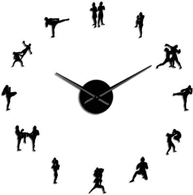 TPYFEI Reloj de Pared DIY sin Marco Grande Espejo de acrílico ...